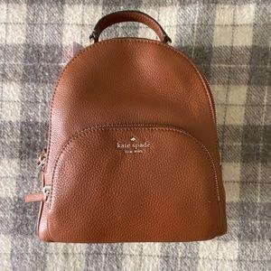 brown Kate Spade backpack